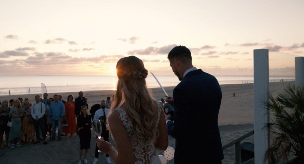 denise en gerard trouwfilm strand